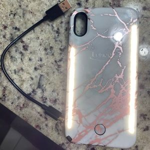 Rose Gold Marble Lumee duo case for iPhone XS Max